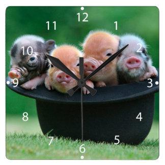 Three little pigs - three pigs - pig hat wallclock