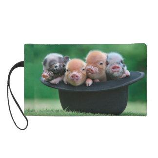Three little pigs - three pigs - pig hat wristlet