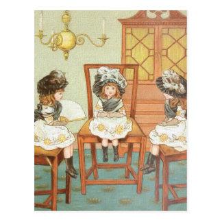 """""""Three Little Sisters"""" Postcard"""
