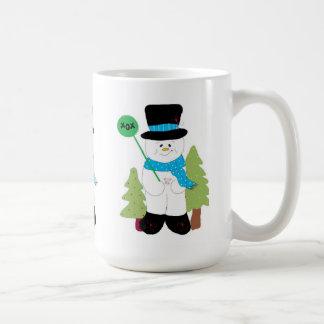 Three Little Snowmen Coffee Mug