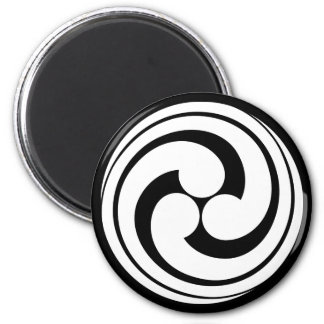 Three long-tailed swirls magnet