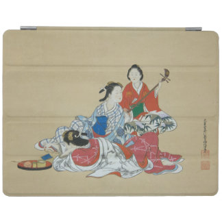 Three lovely Japanese women Vintage art print iPad Cover