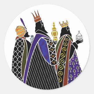 Three Magi Bearing Gifts Classic Round Sticker