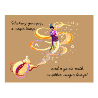 Three magical wishes postcard