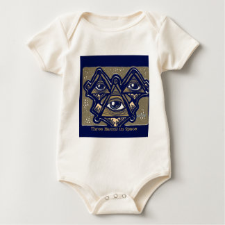 Three Masons in Space by ParanormalPrints Baby Bodysuit