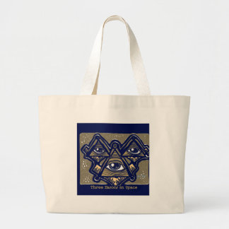 Three Masons in Space by ParanormalPrints Large Tote Bag