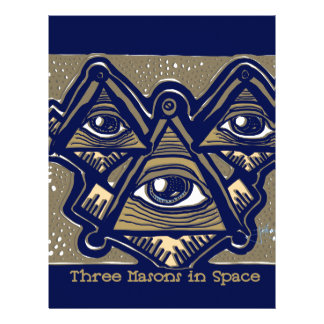 Three Masons in Space by ParanormalPrints Letterhead