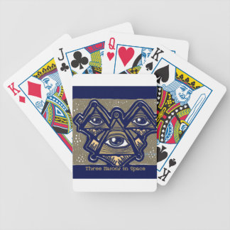 Three Masons in Space by ParanormalPrints Poker Deck