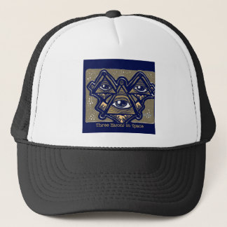 Three Masons in Space by ParanormalPrints Trucker Hat