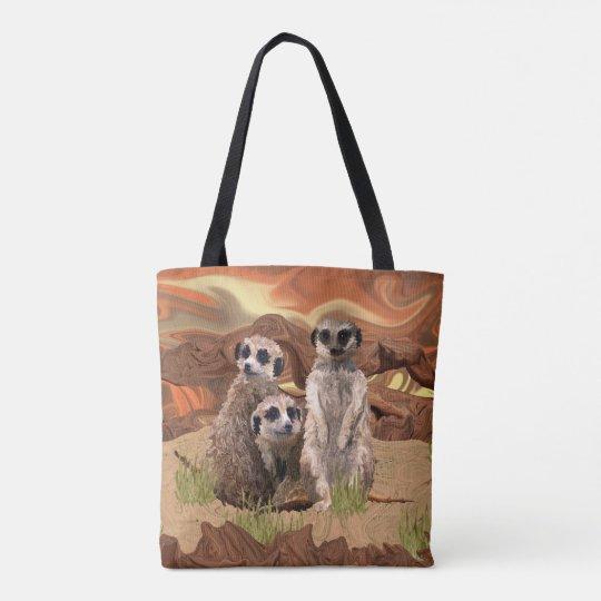 Three Meerly Meerkats Tote Bag
