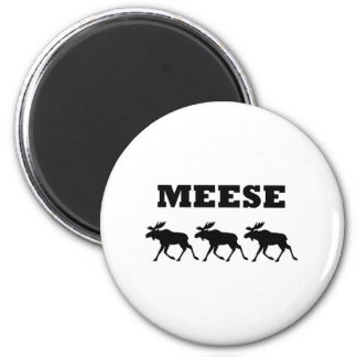 Three Meese Funny 2 Inch Round Magnet