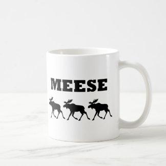 Three Meese Funny Basic White Mug