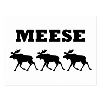 Three Meese Funny Postcard