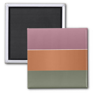 Three Metal Finish Color Stripe - Add Text Img Square Magnet