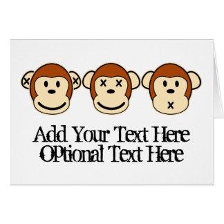 Three Monkeys Design Card