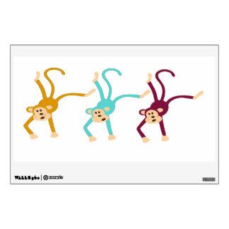 Three monkeys playing wall sticker