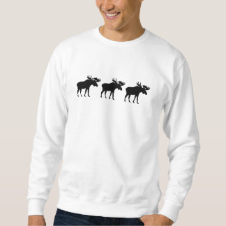 Three moose elk sweatshirt