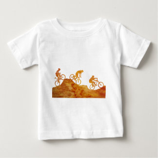 Three Mountain Bikers on a Hill Baby T-Shirt