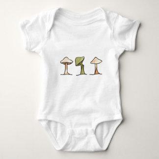 Three Mushrooms Baby Bodysuit