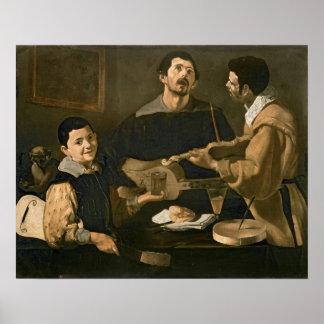 Three Musicians, 1618 Poster