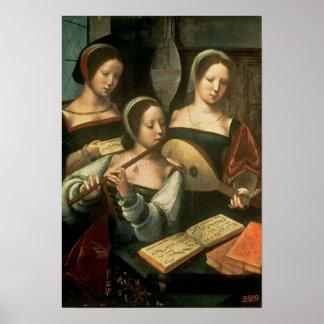 Three Musicians Poster