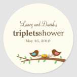 Three New Eggs Favour Sticker or Gift Tag Stickers