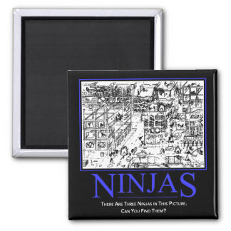 Three Ninjas Square Magnet