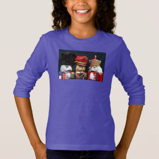 Three nutcrackers on black girl's sweatshirt