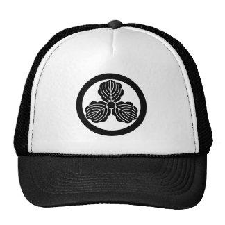 Three oak leaves(1) in circle trucker hat