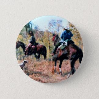 Three on trail 2 inch round button