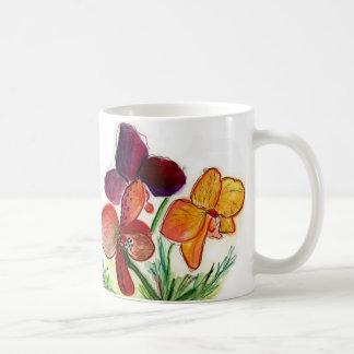 Three Orchids and Orange mug