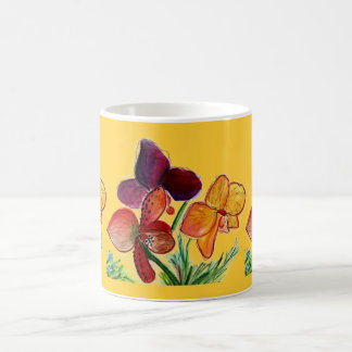 Three Orchids and Sunshine Coffee Mug