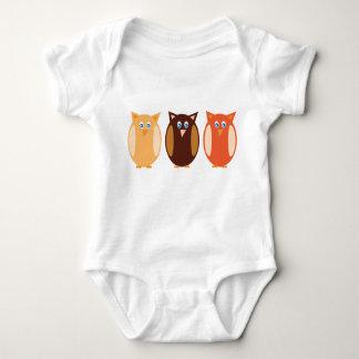 Three Owls Baby Bodysuit