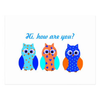 Three Owls on multiple products Postcard