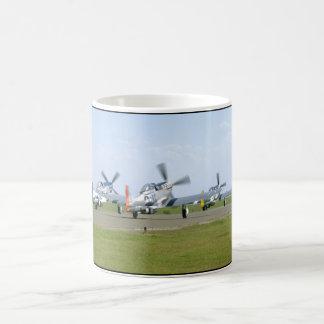 Three P51 Mustangs Taking Off_WWII Planes Coffee Mug