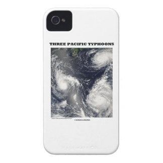 Three Pacific Typhoons Picture Earth iPhone 4 Case