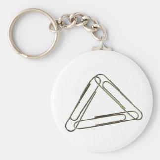 Three paper clips interlinked keychain