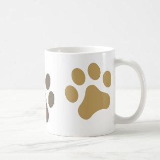 Three Paws Brown Pawprint Mug