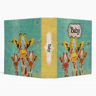 Three Peeking Giraffes Baby Book 3 Ring Binders