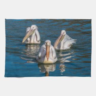 Three pelicans kitchen towel