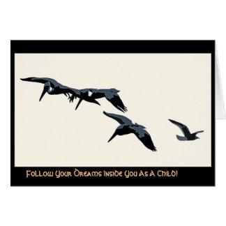 Three Pelicans & Seagull Digital Card