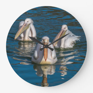 Three pelicans wall clock