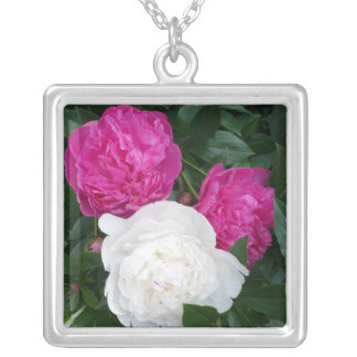 Three peonies necklace
