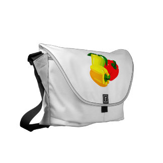 Three peppers graphic red yellow green commuter bags