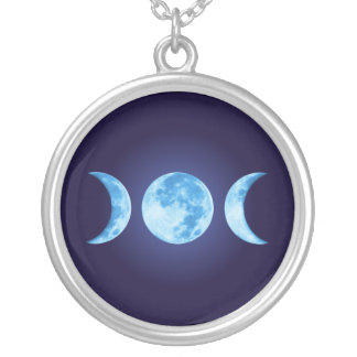 Three Phase Moon Necklace