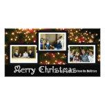 Three Photo Christmas Lights Card Photo Cards