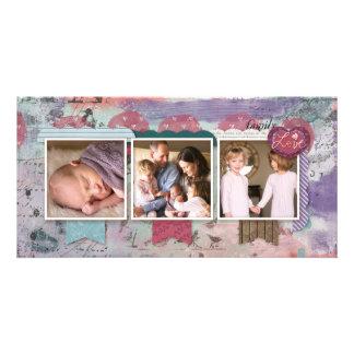 Three Photo Scrapbook Design Photo Customized Photo Card