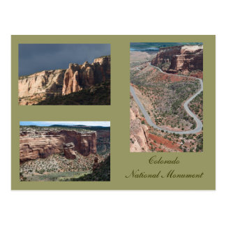 Three Photos of Colorado National Monument Postcard