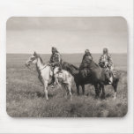 Three Piegan Blackfeet Chiefs - vintage Mouse Pad
