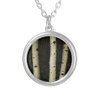 Three Pillars Of The Forest Silver Plated Necklace
